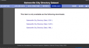 Gainesville City Directory Dataset4