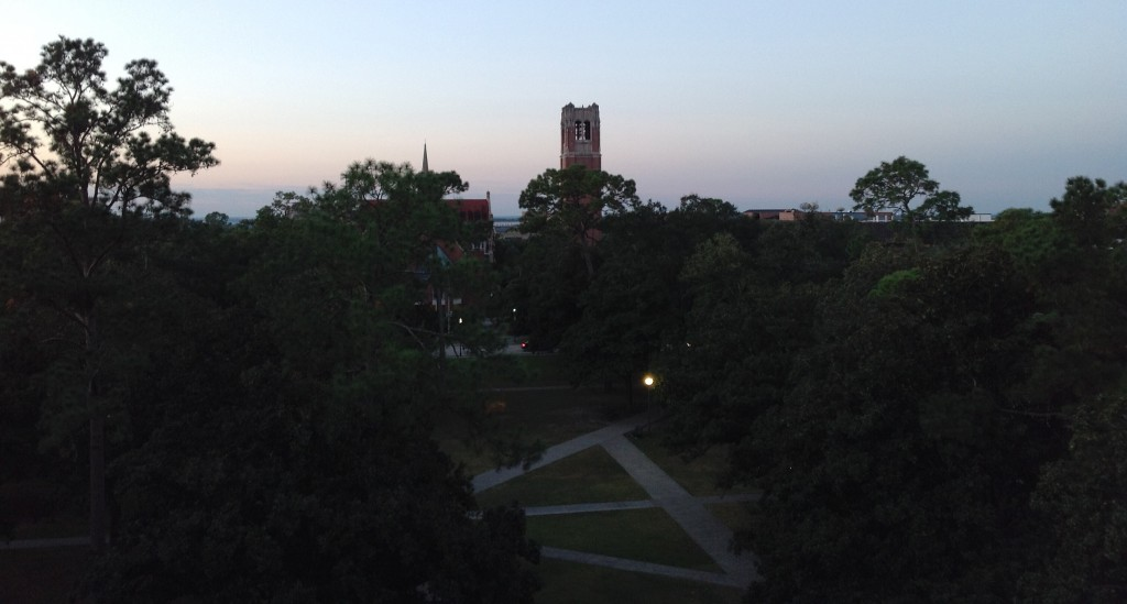 University of Florida, Century Tower and the Plaza of the Americas, Oct. 25, 2013, early morning