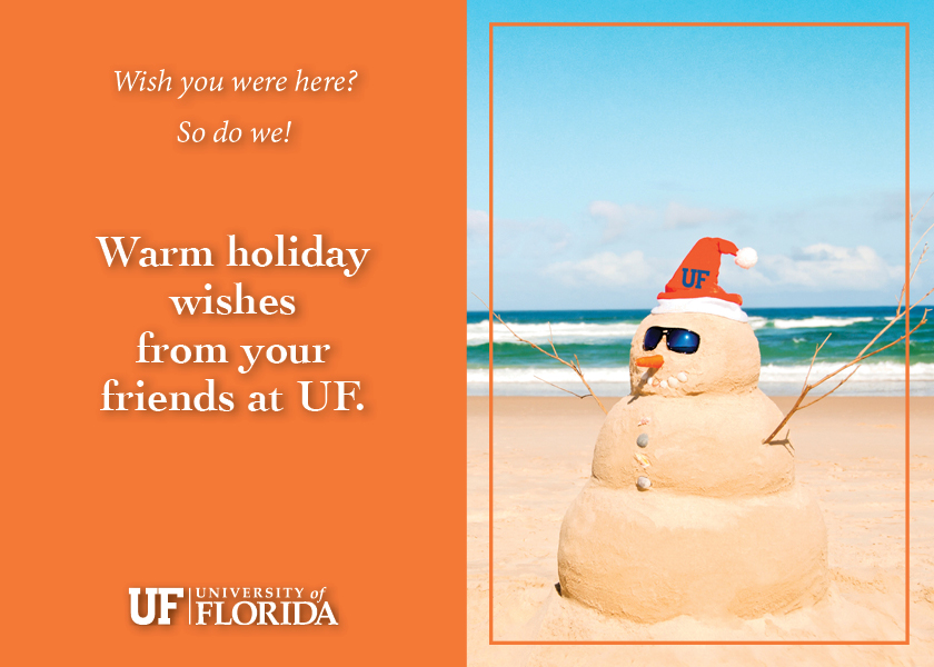 UF (Snow Person) Sand Person with Winter Greetings