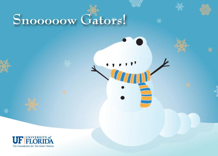 UF (Snow Gator) Go Gators