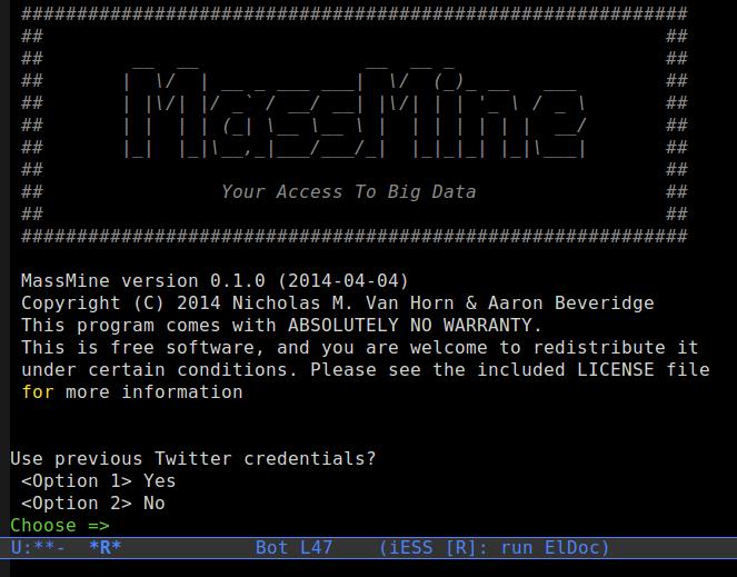 MassMine Open Source Software