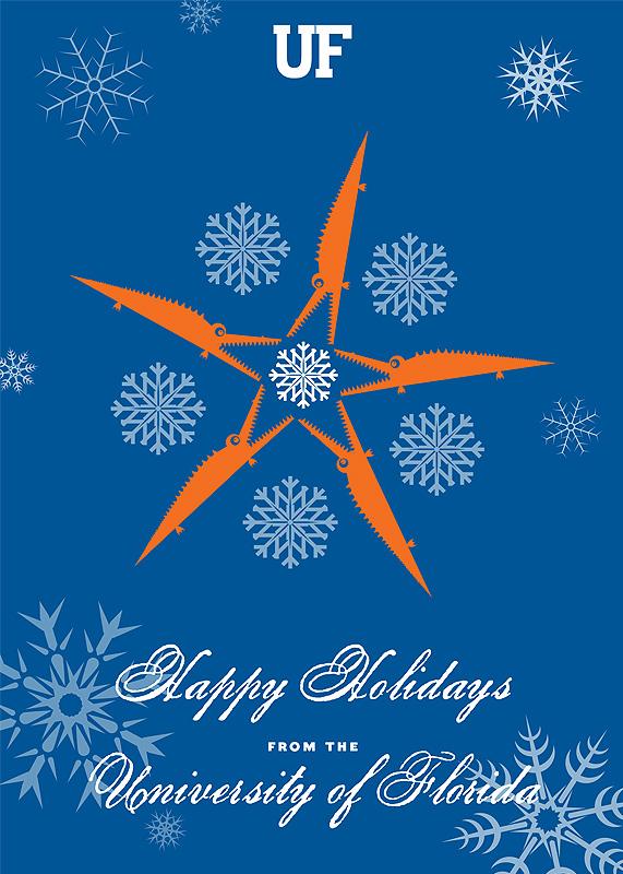 UF Gators-as-Snowflakes Holiday Card