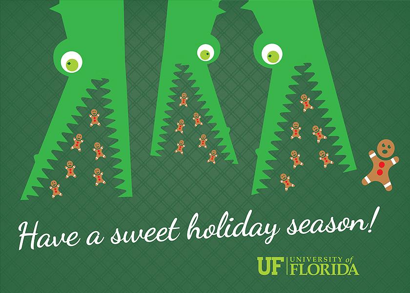 UF Gator Chomp Holiday Card
