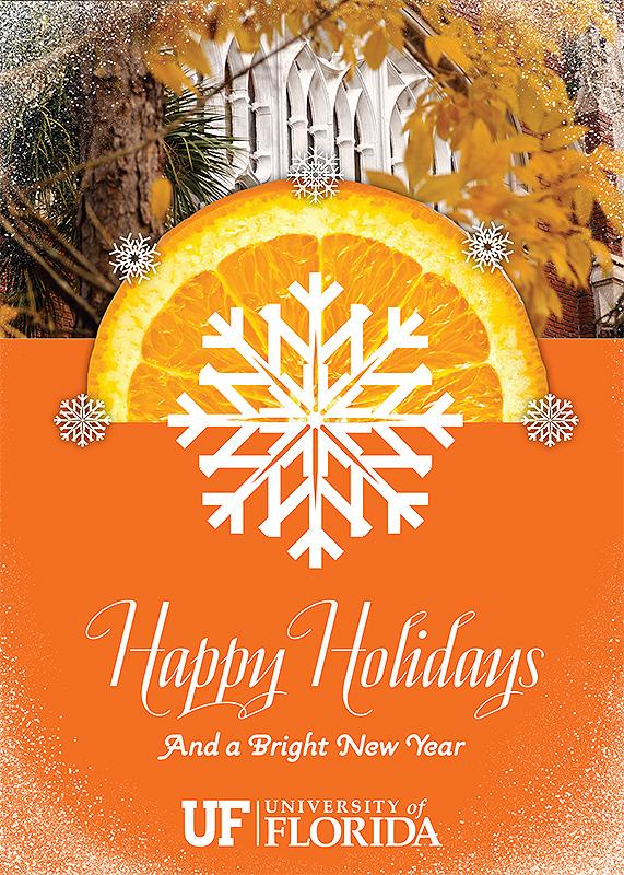 UF Orange Holiday Card