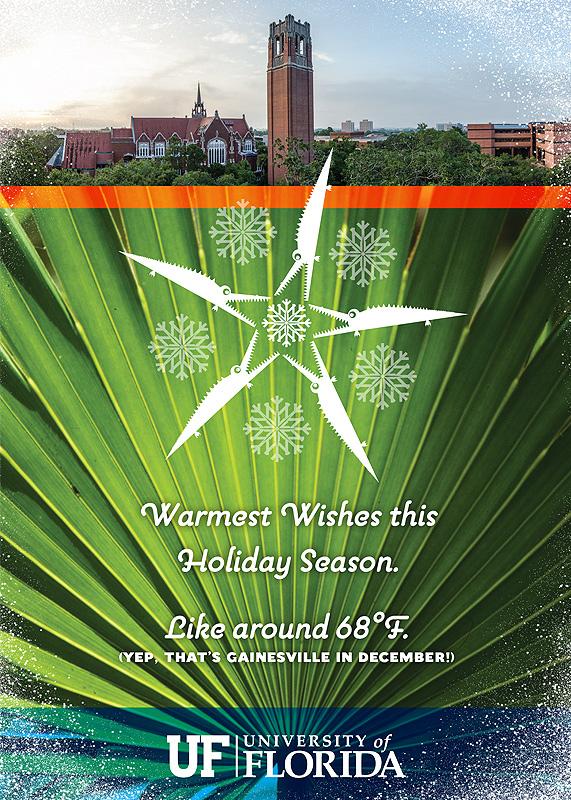 UF Palm Holiday Card