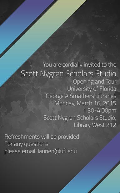 Scott Nygren Scholars Studio opening celebration in Library West